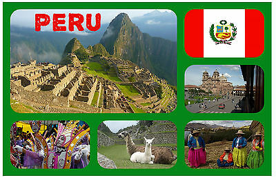 Peru (South America) - Souvenir Novelty Fridge Magnet - Brand New - Gift