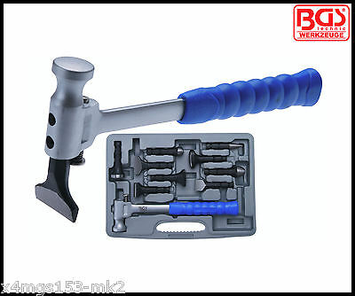 BGS - Expert Body Repair Set 10 Pcs Set, Repair Hammer Plus 9 Heads - Pro - 1679