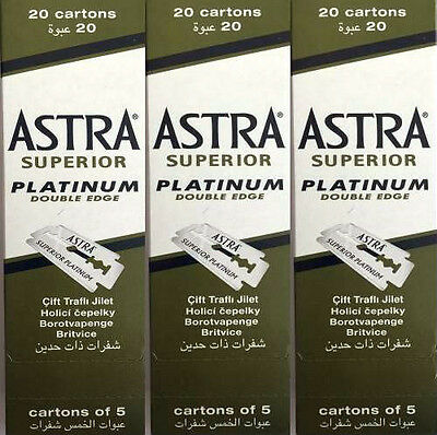 300 Astra Superior Platinum Double Edge Razor Blades Popular Sellers