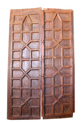 Original indian Door panels from old Doors approx. 120Jahre antique
