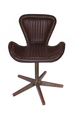 New Aircraft Furniture Copper Leather Revolving