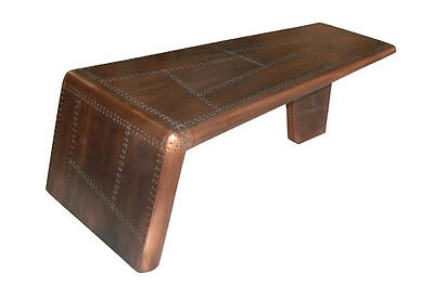 Furniture in Antique Copper Finish Coffee Table Aircraft