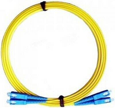 Patchcord duplex SC-SC SM 3.0mm yellow LSZH 2m