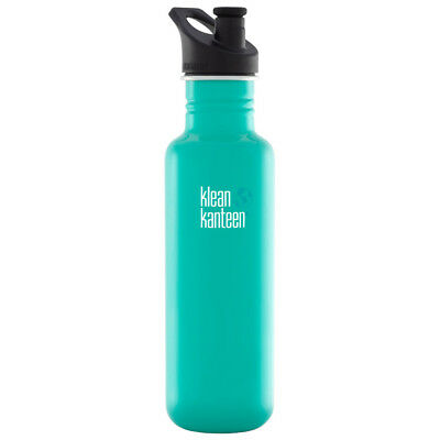 Klean Kanteen Classic 800ml Water Bottle Sport Cap Gym Camping Hiking Tidal Pool