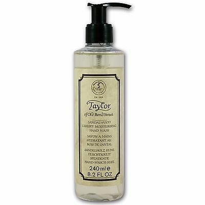 Taylor of Old Bond Street Sandalwood Moisturising Hand Wash Pump Bottle (240ml)