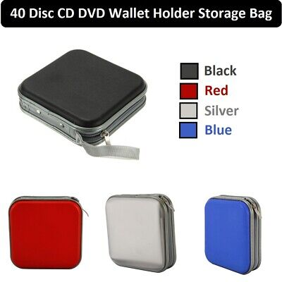 CD DVD Disc 40 Storage Case Wallet Holder Cary Bag Sleeve Album Storage Hard Box