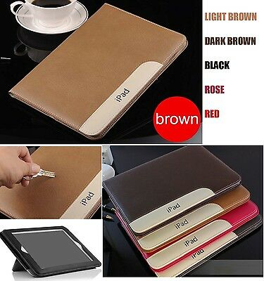 Protective Flip Stand Luxury PU Leather View Case Cover For iPad 2 3 4/Mini/Air