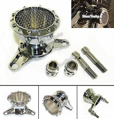 CNC Air Cleaner Intake Filter Chrome Fit Harley Touring Sportster XL 883 1200 48