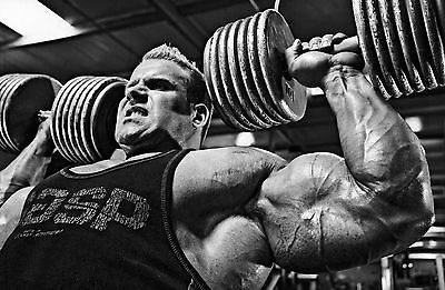 Jay Cutler Bodybuilding Muscles Large Poster Art Print Black & White Canvas/Card