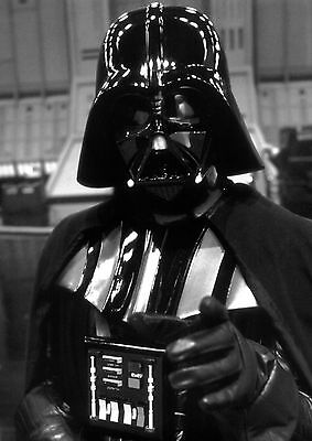 Darth Vader Star Wars Large Poster Art Print Black & White Canvas or Card