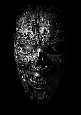 The Terminator Classic Movie Large Poster Art Print Black & White Canvas or Card