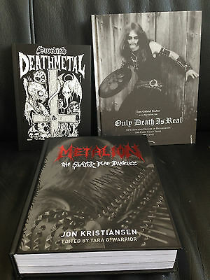 METALION/ONLY DEATH IS REAL/SWEDISH DEATH METAL Heavy Book Lot *Black/Hellhammer