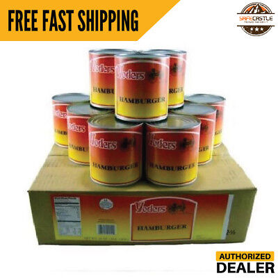Yoders Canned Hamburger/Grnd Beef Case of 12 Food Storage Camping Canned Meat