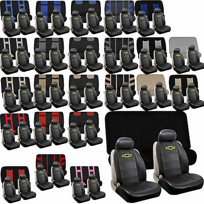 Synthetic Leather Sideless Seat Covers & Bench set Universal Car Truck for Chevy