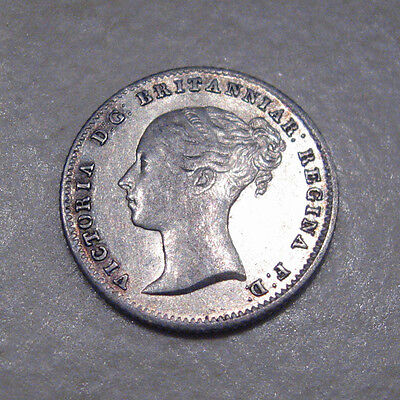 Silver Groat 1855 Coin Queen Victoria Extremely Fine Grade