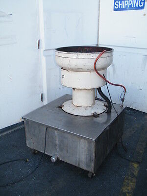 "24"" bowl vibratory finishing mill tumbler hutson sweco wet hone deburring tumble"