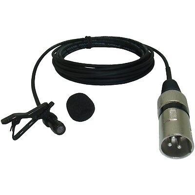 MINI CLIP ON VOCAL / INSTRUMENT MICROPHONE 3 PIN XLR MALE PLUG 48v PHANTOM POWER