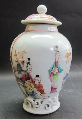 Superb Chien Lung 18th C. Chinese Export Mandarin Tea Caddy  c. 1770  antique