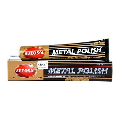 Autosol NEW Mx 75ml Motorcycle Car Boat Metal Chrome Brass Copper Polish Tube