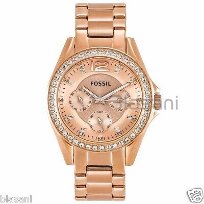 Fossil Original ES2811 Women's Riley Rose Gold Stainless Steel Watch 38mm