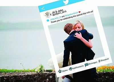 Twitter Style Frame Cut Out - Large