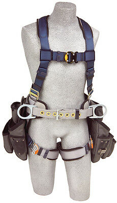 DBI SALA 1108517 ExoFit Construction Style Harness with Tool Pouches (M)