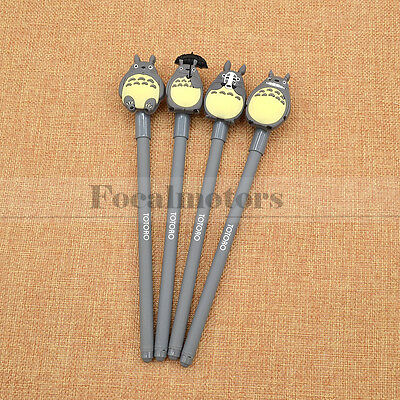 Cute Anime My Neighbour Totoro Black Ink Gel Pen Fan Cosplay Stationery 1pc Gift