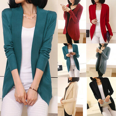 Women Casual Loose Long Sleeve Knitted Sweater Tops Cardigan Outwear Coat Jacket