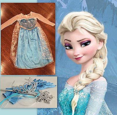 Frozen Disney QUEEN ELSA DRESS HALLOWEEN Costume Girl Cosplay Princess US SELLER