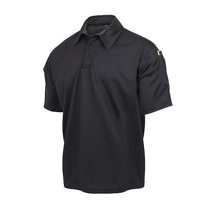 Police Security Guard Officer EMS EMT Paramedic Black Tactical Duty Polo Shirt