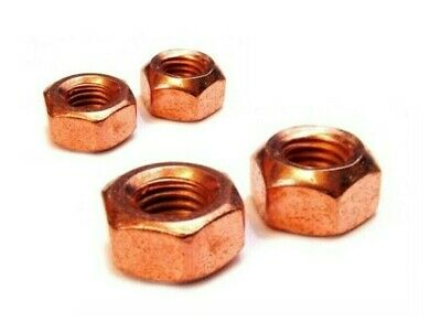EXHAUST MANIFOLD COPPER FLASHED  NUT HIGH HEAT RESISTANT  8mm  QTY 10PCS