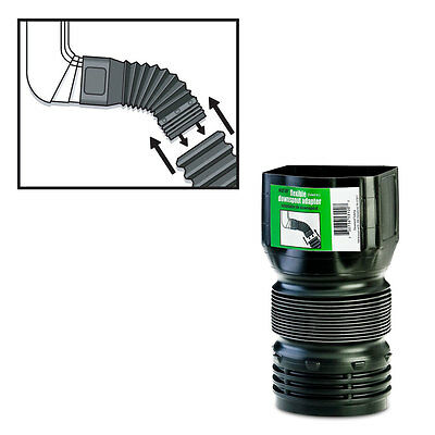 "FLEX-Drain 53102 Flexible Downspout Landscaping Drain Pipe Adapter, 3"" x 4"""