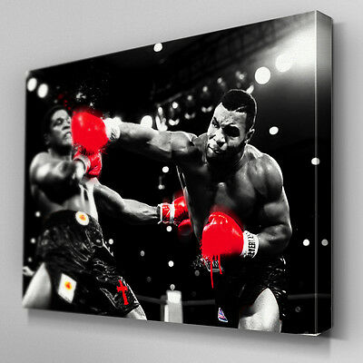 S556 Mike Tyson Berbick Knock out Punch Canvas Art Ready to Hang Picture Print