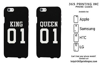 35f9eaec15 365 Printing King 01 Queen 01 Couple Phone Case Set Cute Matching Phone  Covers
