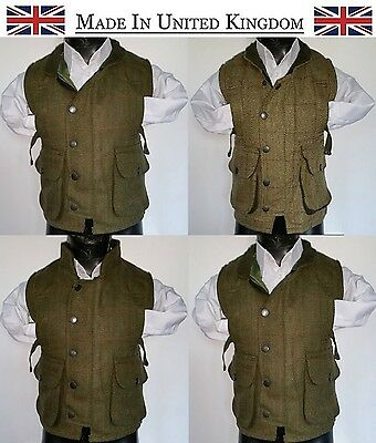 Kids Gilet Boys Girls Derby Hunting Tweed Shooting Bodywarmers Waistcoat 16-36