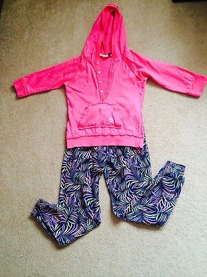 Girls Outfit 10 - 11 yrs - Ikks Designer Hoodie + Trousers