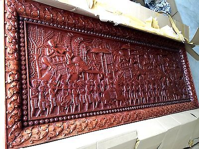 Wood Carved Panel Wall Art ** Colletible Item ****