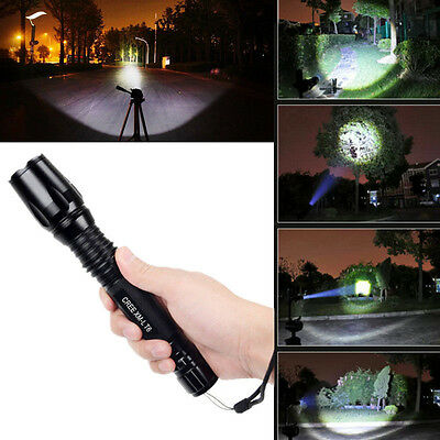 UltraFire CREE XM-L T6 LED Zoomable Focus Flashlight Torch Super Bright 5 Modes