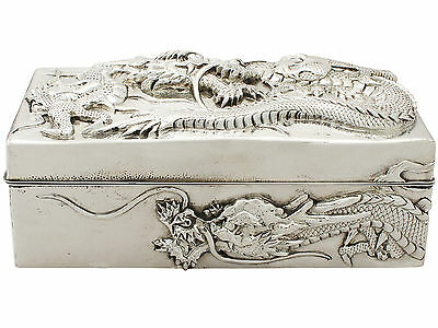 Antique Chinese Export Silver Box by Kuhn & Kormor - Circa 1900