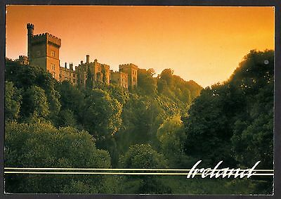 View of Lismore Castle, Waterford, Ireland. Stamp/Postmark 1991