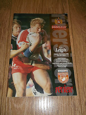 Wigan Vs Leigh 19.10.1993 Rugby League Programme Excellent