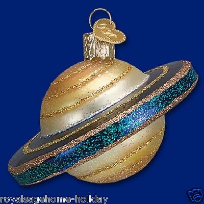 22032 OWC Saturn Glass Christmas Ornament Decoration Planet Rings Solar System