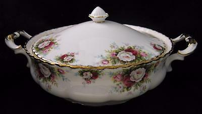 Royal Albert CELEBRATION Covered VEGETABLE SERVING BOWL Dish Made in ENGLAND