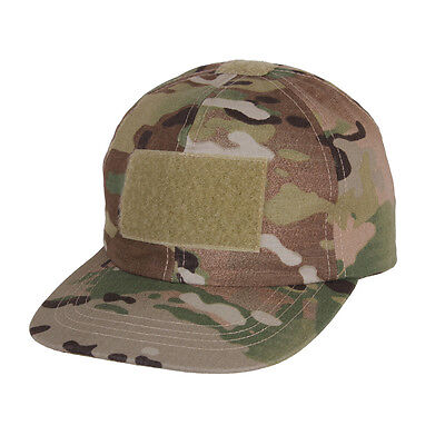 Kids MultiCam Camo Tactical Airsoft Flag Moral Patch Costume Baseball Hat Cap