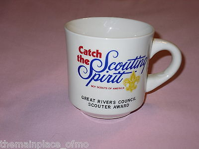 Catch The Scouting Spirit Mug Great Rivers Council Scouter Award Boy Scouts