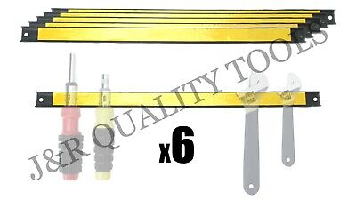 "6 Pack 18"" Magnetic Tool Bar Strip Holder Knife Magnet Workshop Home Utensils"