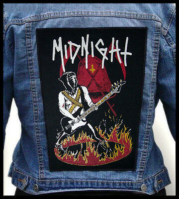#LIMITED#  MIDNIGHT - Athenar On Fire  --- Giant Backpatch Back Patch