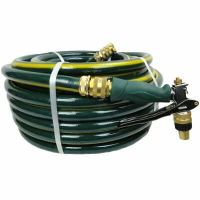 50M Rubber Garden Hose 18MM I.D. 10/10 Kink Free Brass Fittings Ryset Pistol