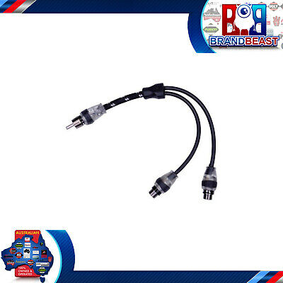 New Rockford Fosgate Rfity-1m Car Rca Y-adapter Signal Cable 1 Male To 2 Female