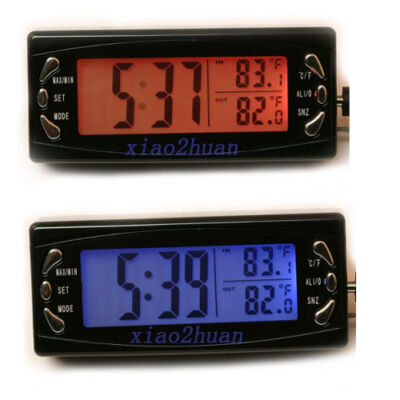 Time Display Digital Car Alarm Clock Thermometer Temperature Monitor DC 12V New
